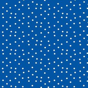 polka dots small - blue ocean