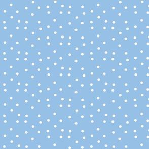 polka dots small - light blue