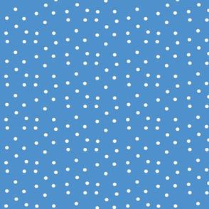 polka dots small - lake blue