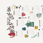 2020 Coffee Calendar Tea Towel
