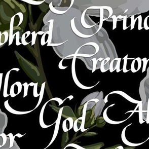 Names of Christ   Calligraphy   Black   Large