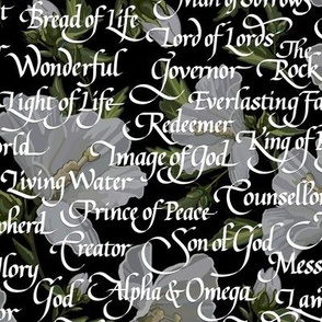 Names of Christ   Calligraphy   Black