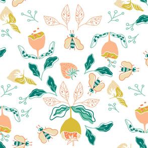 Flores y frutillas