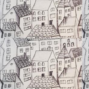 City Scape Black and White (2)