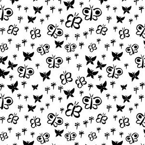 Butterfly Silhouettes Black
