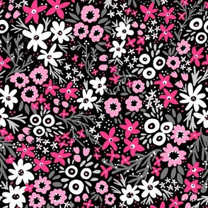 Rustic Wildflowers (hot pink)
