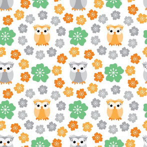 Owls & Flowers