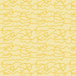 Yellow Squiggles On  Pale Yellow