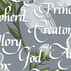 Names of Christ | Calligraphy | Gray | Large