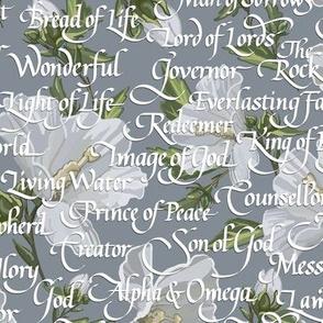 Names of Christ | Calligraphy | Gray