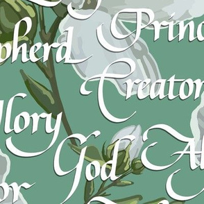 Names of Christ | Calligraphy | Green | Large