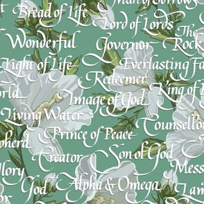 Names of Christ  | Calligraphy |  Green