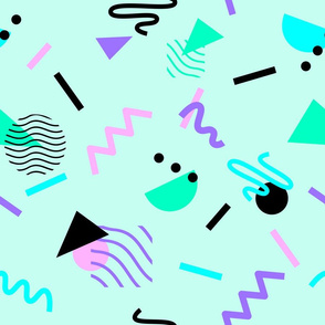 Memphis Repeating Pattern Multicolour