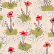 Quick oil pastel flora