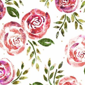 Sweetly Distressed Watercolor Floral - Warm