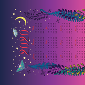 Night & Day-2020 Calendar Tea Towel