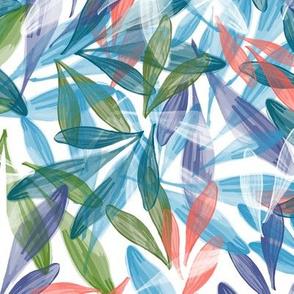 Leaf Dance | Multi on White