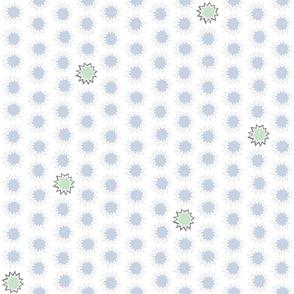 80s Splatter in White