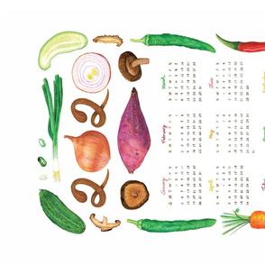 Healthy and Flavorful 2020 Tea Towel Calendar