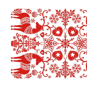 Scandinavian Christmas Tea Towel