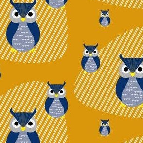 owls and shapes yellow-blue