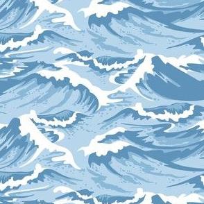 Ocean Waves Light Blue