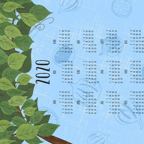 Bistro Vibes - Blue Tea Towel 2020 Calendar