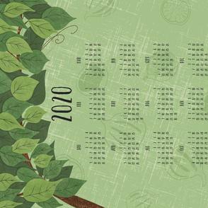 Bistro Vibes - Green Tea Towel 2020 Calendar