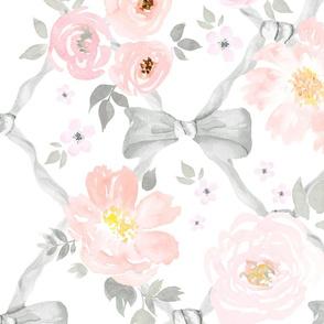 Floral Bow Trellis