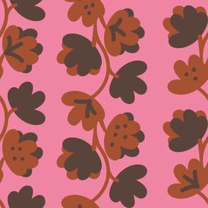 climbing vines on pink
