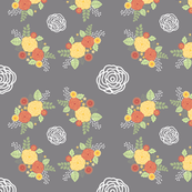 Country Roses - Orange/Lemon - Large