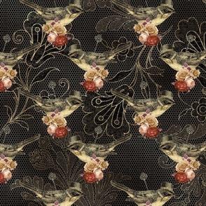 steampunk lace & bird
