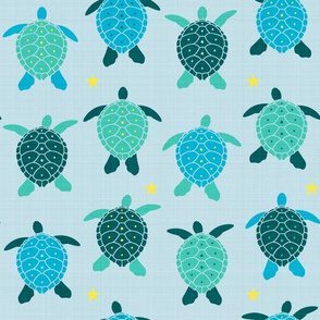 sea spirit - turtles (blue) (small)