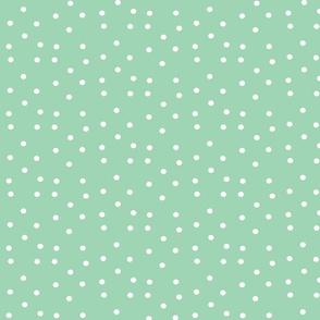 polka dots small - seafoam