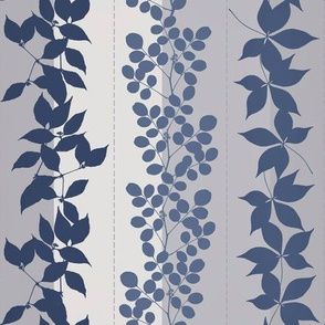 Neutral Leaf Pattern Blue