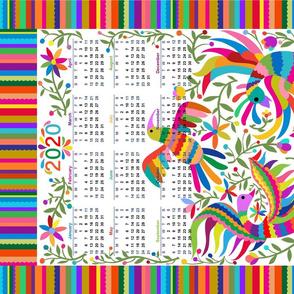 2020 Otomi Birds Calendar