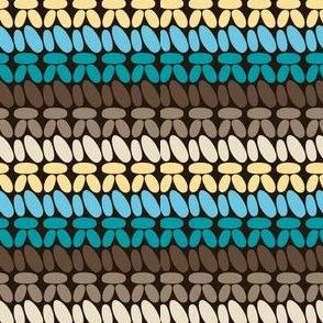 Single crochet stitch rows beachside
