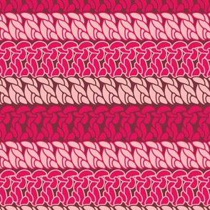 Double crochet stitch pattern pink