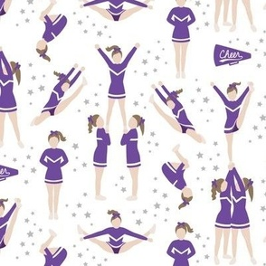 Cheerleading Stunts Purple