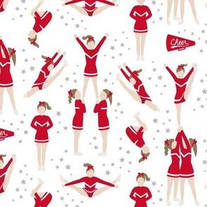 Cheerleading Stunts Red