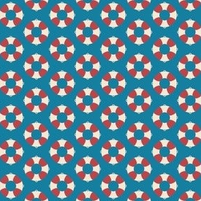 Nautical: Life preserver-simple light blue, small scale