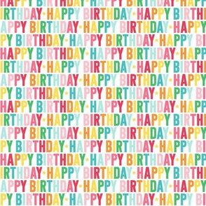 happy birthday XSM rainbow - uppercase
