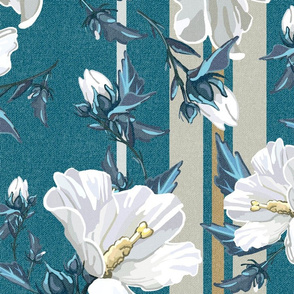 Large Rose of Sharon Collection | Stripes w Texture