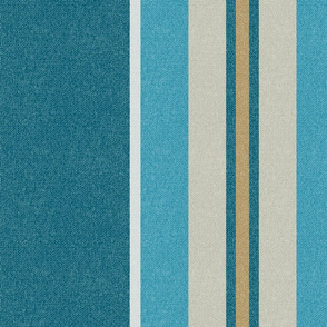 Large Stripes | Teal | Rose of Sharon Collection