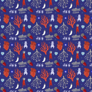 Amulets on Royal Blue - small scale