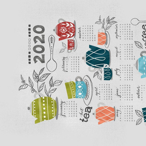 Coffee & Tea Party - Tea Towel Calendar