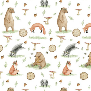 Exclusive Pattern Design for Peaks & Valleys Baby: Spring Forest