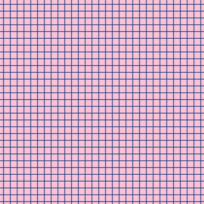 Small Doll - Grid Navy Pink