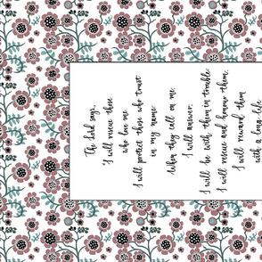 Floral Pen - Psalm 91:14-16