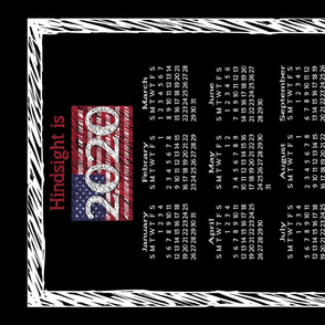 2020 Vote Blue calendar tea towel